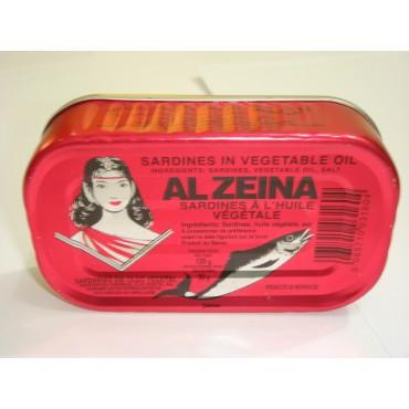 conserve sardine maroc - al zeina a huile vegetale