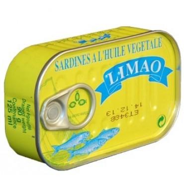 sardine huile végétale boite jaune Limao