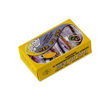 Import conserve Sardines à l'huile de tournesol et au citron