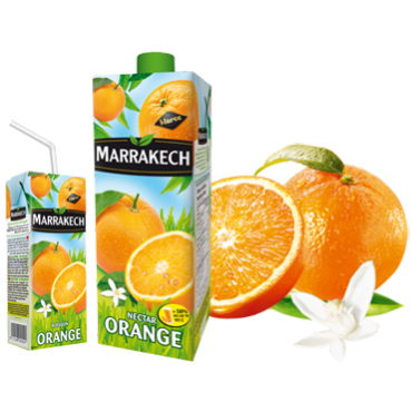 Jus Marrakech nectar orange Maroc