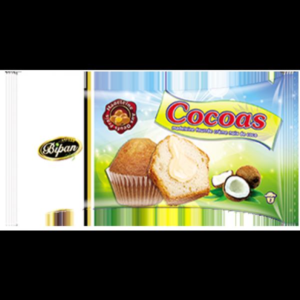 Madeleines fourrées à la crème de noix de coco COCOAS