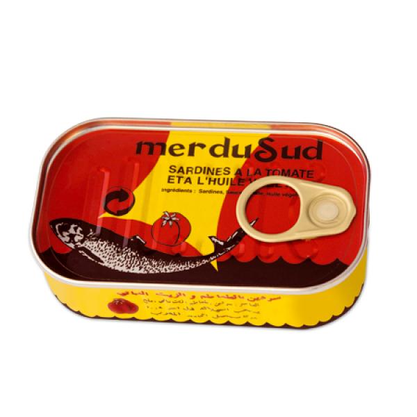 Import maroc Sardine à la sauce tomate125G Mer du Sud