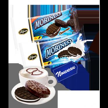 Biscuits enrobés à la crème cacao MORINEO ENROBE