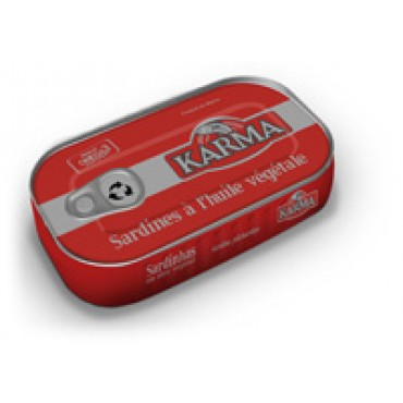 sardine huile végétale 125g Karma