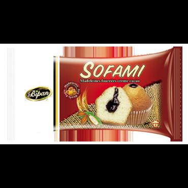 Madeleines fourrées à la crème cacao SOFAMI