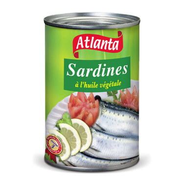 Conserve sardine 425 g huile vegetale